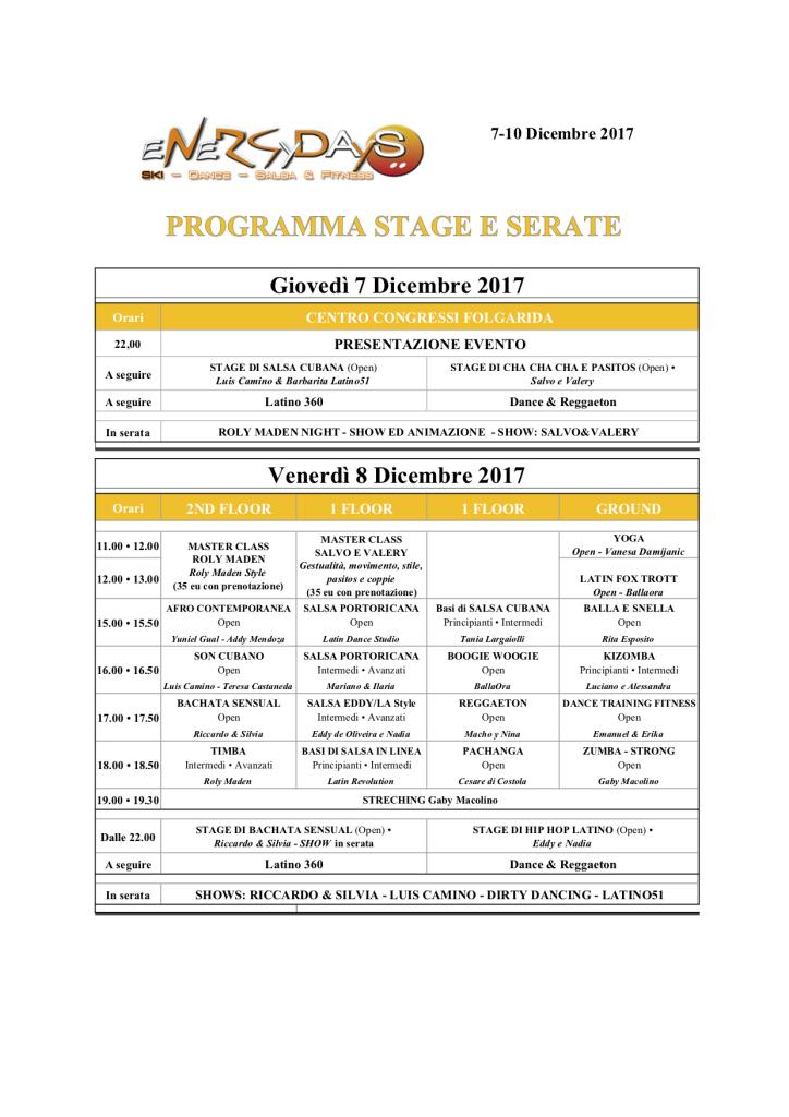 Progr corsi e serate Energydays Folgarida 2017
