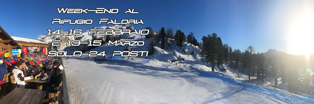 Weekend a sciare – Rifugio Faloria Cortina